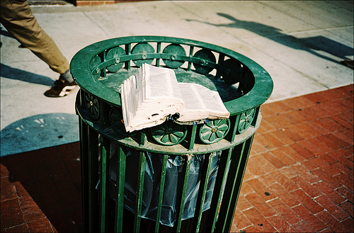 bible-on-garbage-can