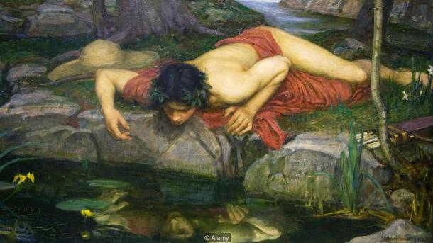 BK959N Detail of Echo and Narcissus by John William Waterhouse painted 1903